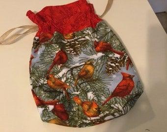 Cardinal Drawstring Cotton Bag