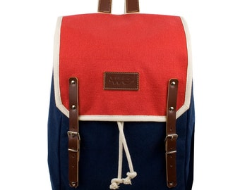 Bravo Levanto Backpack. Mediterranean Inspired. Nautical bag . Men's Backpack