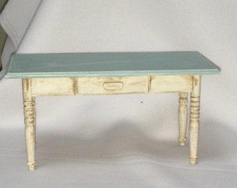 "Dollhouse Miniature 1"" Scale Aged Table"