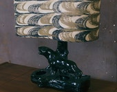 Panther Lamp with Fiberglass Shade