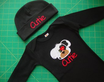 Personalized Baby Boy Valentine Outfit 0-3 months