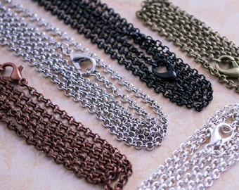 25- 18inch Chain Necklaces - Rolo Loop Chain Necklaces - Jewelry Making Chain Necklaces - Wholesale Chain Necklaces - DIY Chain Necklaces