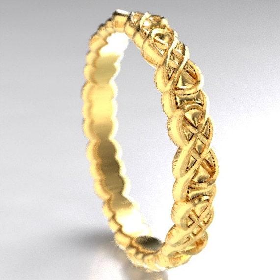 Gold Celtic Infinity Symbol Design in 10K 14K 18K or Palladium, Made in Your Size CR-1070