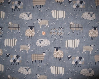 """Sheep upholstery fabric from UK / 18"""" x 20""""  for one"""