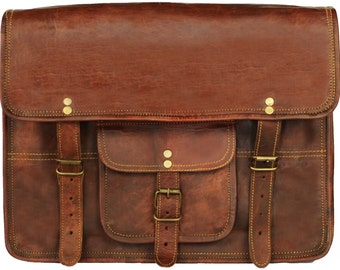 Mens Leather Messenger Bag Parker