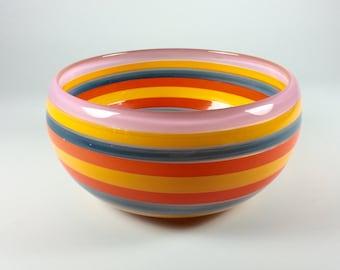 Nine Stripe Glass Bowl