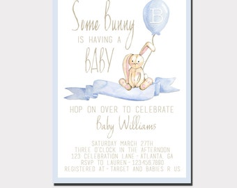 High Quality Bunny Baby Shower Invitation   Woodland Baby Shower   Boy Baby Shower    Girl Baby Shower