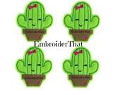 UNCUT Cactus applique embellishment felt hair bow center felties (4)