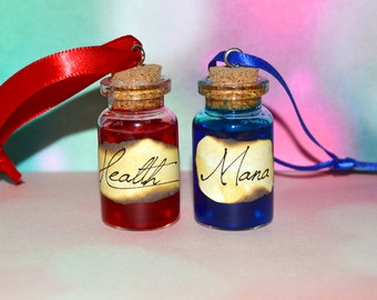 pair of potion bottle christmas ornament