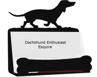 Dachshund Business Card Holder, Wiener Dog Business Card Holder