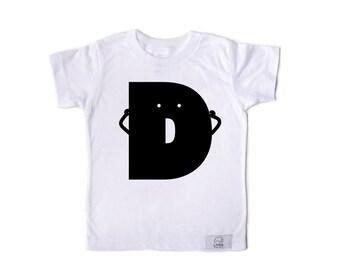 Letter D Kids T-shirt White
