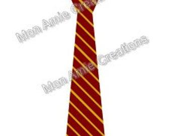 Gryffindor Inspired Necktie SVG Vector Clipart file Immediate Download