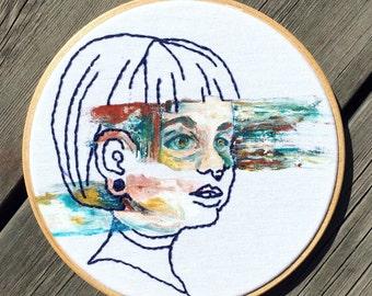 Girly - Original hoop art