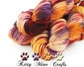 Heirloom Carrots Sock Yarn - Phat Fiber July 2016 Farmer's Market Box - Superwash Merino/ Nylon Fingering Yarn - 430 yds - Knitting, Crochet