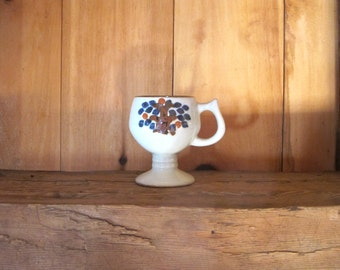 Vintage Stoneware Mug with Tree Design