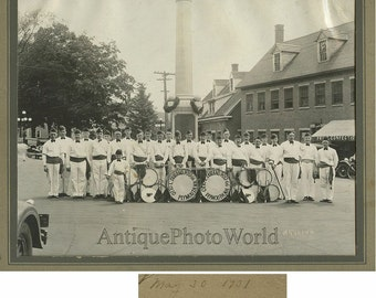Plymouth NH music band antique photo