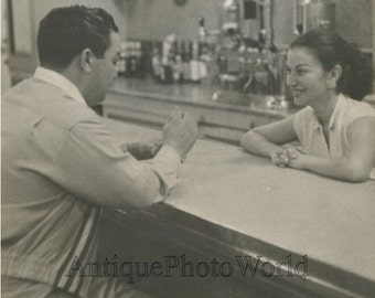 Puerto Rico woman prostitute in a bar vintage art photo