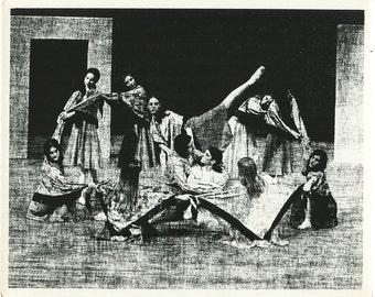 Ballet dancers vintage abstract art photo