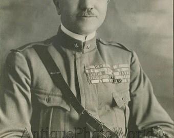General Pietro Badoglio Italy antique military photo
