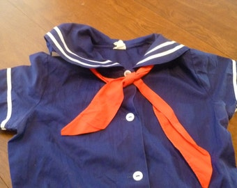 Child's Blue Sailor Dress