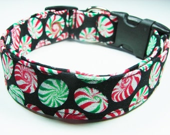Charming Red & Green Glitter Starlight Candy Dog Collar