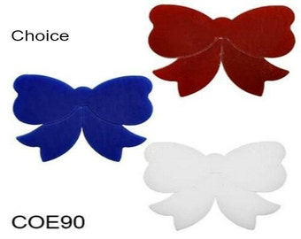 Bullseye COE 90 CHRISTMAS BOW Fusible Precut Glass Choice Fusing Supplies