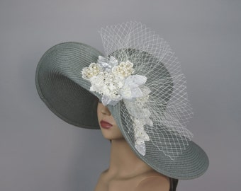 Wedding Hat Head Piece Kentucky Derby Hat Bridal Coctail Hat Couture  Bridal Hat