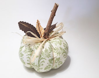 Stuffed Fabric Pumpkin, Stuffed Fabric Pumpkin Wreath Supply, Fabric Pumpkin