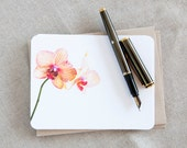 Note Card Stationery - Orchid -  Gift for Her -  Personalized Stationery Cards