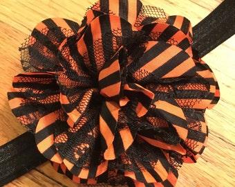 Halloween headband - large flower