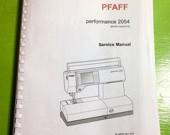 Pfaff 254/56  MANUAL