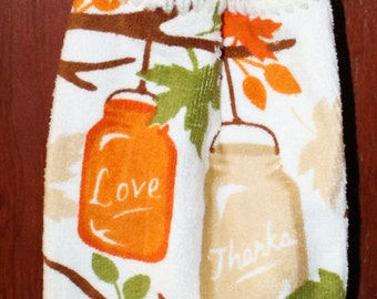 Thanks, Love, Fall Crochet Top Towel
