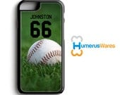 Personalized Baseball Phone Case - iPhone 4,4s,5,5s,5c,6,6plus; Galaxy S3,S4,S5,S6, iPod 4,5 Sports Gifts, Baseball Gift, Little League Gift
