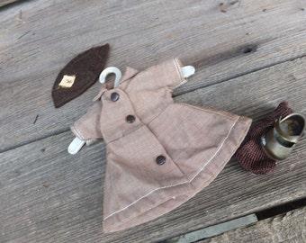 RARE Vintage Terri Lee Brownie Dress and Hat, Original 50s Terri Lee Dress and Hat