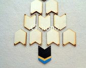 Wood Chevron Ready to be Painted, 10 Laser cut Wood Chevron, Geometric Jewelry,