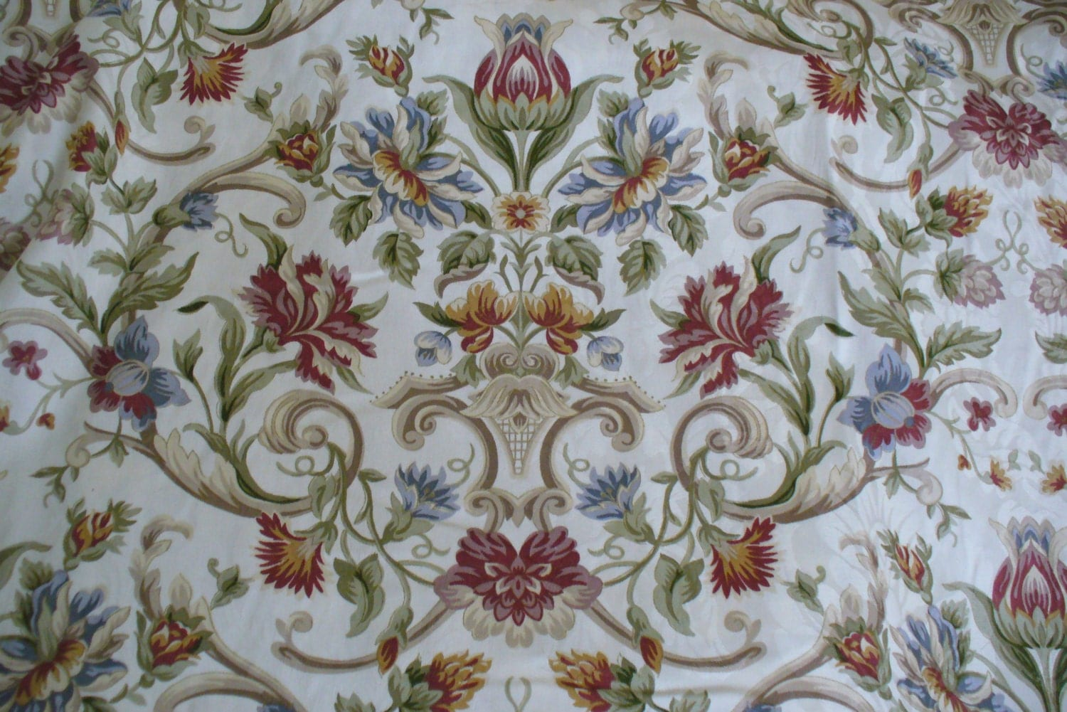 Fabric By The Yard, Cotton, Beautiful Floral Print, Home