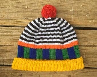 Striped Colour block Beanie