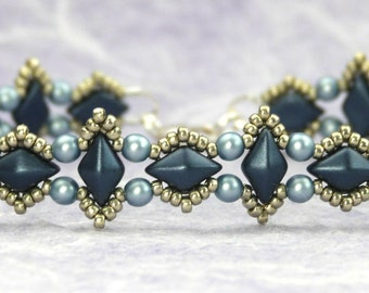 Aztec Diamond Bracelet and Earring Tutorial