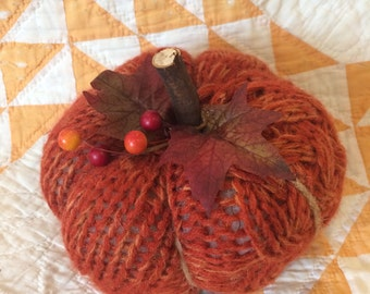 Knit Pumpkin (large size)