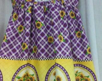 Sunflower dress made with CKC Hattie Pattterb