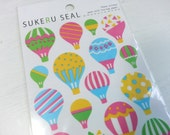 Hot Air Ballnoon PVC Sticker - 1 Sheet