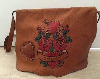 GUCCI Tatoo Heart Tribeca Messenger Bag
