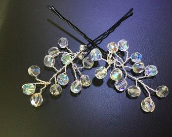 Bridal wedding crystal hair pins