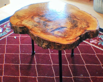 Spalted Maple Coffee Table w/iron legs