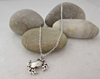 Crab Necklace, Silver Crab Necklace, Cancer Horoscope Necklace, Gift for Girls, BFF Gifts, Bridesmaid Gift, For Sister, British Seller UK