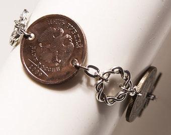 Russian Double Headed Eagle Coins Handmade Bracelet