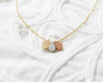 Tiny 3 Pendant Necklace Gold Rose Gold Silver Necklace Bridesmaid Gift Bridesmaid Necklace Birthday Gift Simple and Dainty Necklace