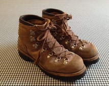 1970's, brown, leather, mountaineering boots by Vasque, Men's size 7 1/2 M