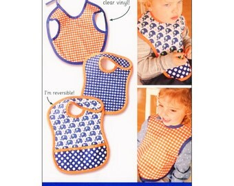 "Pattern ""Tiny Tot Bibs"" Paper Pattern, Instructions by Indygo Junction (INJ1130)"