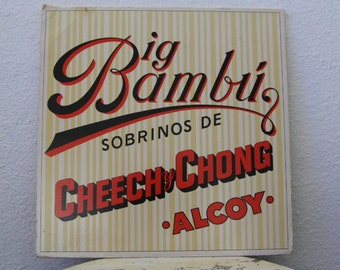"Cheech & Chong - ""Big Bambú"" vinyl record w/ Paper"
